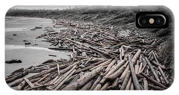 Shoved Ashore Driftwood  IPhone Case