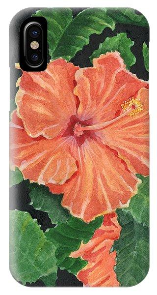 Hibiscus Flower iPhone Case - Showy Hibiscus by Marsha Elliott