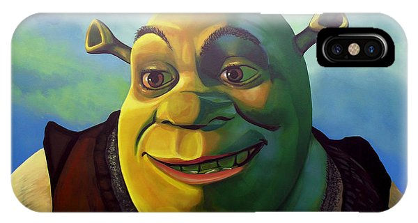 Child Actress iPhone Case - Shrek by Paul Meijering