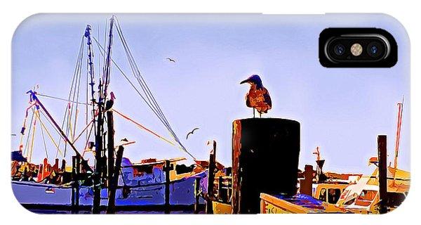 Shrimp Boat At Dock IPhone Case