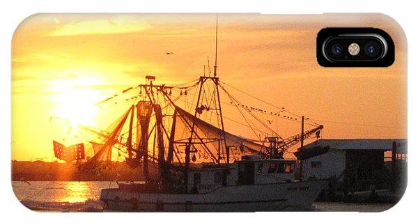 Shrimp Boat At Sargent   IPhone Case