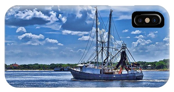 Shrimp Boat Heading To Sea IPhone Case