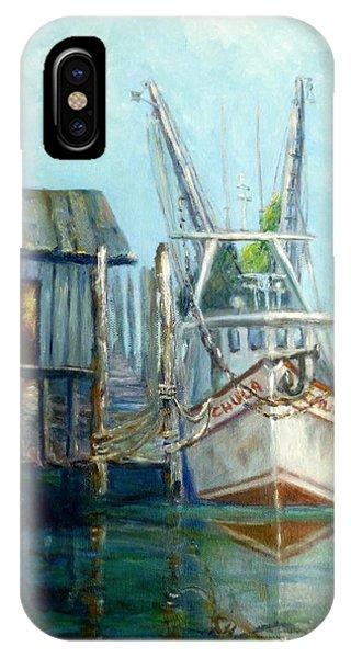 Shrimp Boat Paintings IPhone Case