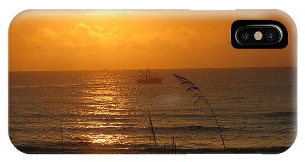 Shrimp Boat Sunrise IPhone Case