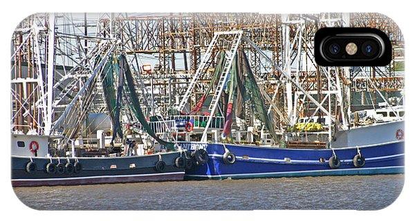 Shrimp Boats 1 Port Arthur Texas IPhone Case