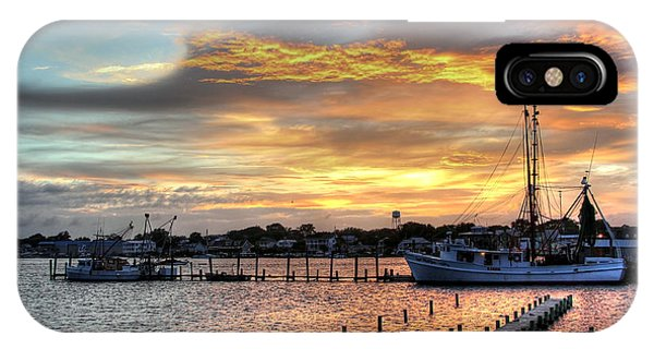 Shrimp Boats At Sunset IPhone Case