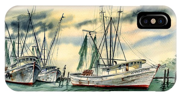 Shrimp Boats In The Keys IPhone Case