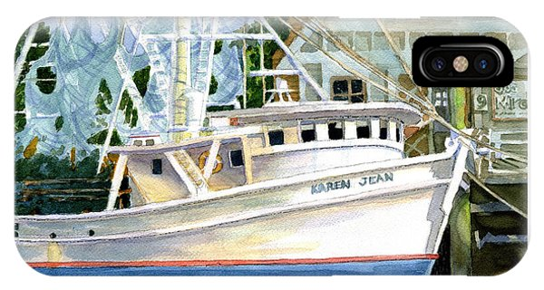 Shrimper Karen Jean IPhone Case