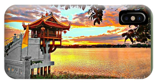 Shrine On The Lake. IPhone Case