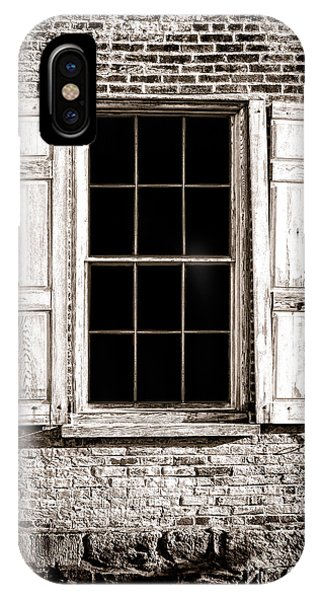 Window Pane iPhone Case - Shutters by Olivier Le Queinec