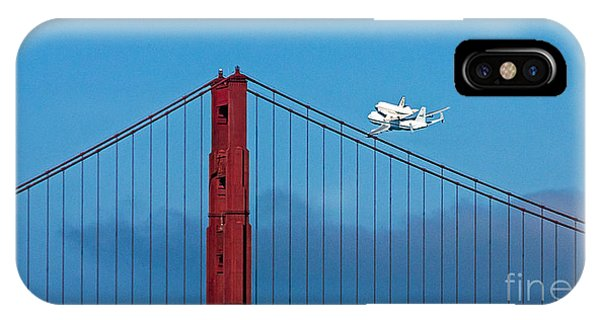 Shuttle Endeavour At The Golden Gate IPhone Case