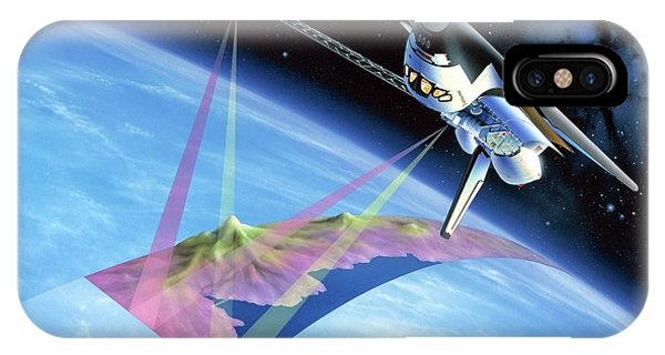 Spaceflight iPhone Case - Shuttle Radar Topography Mission by Detlev Van Ravenswaay