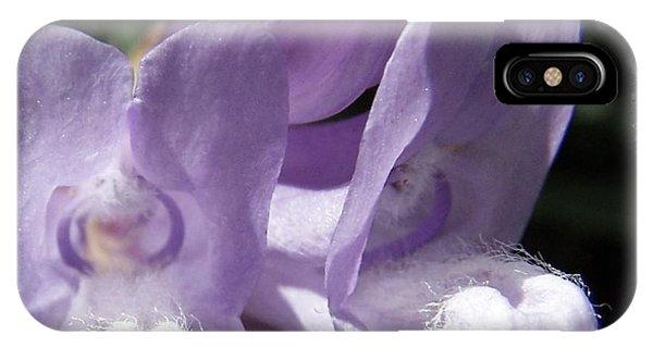 Shy Little Violets IPhone Case