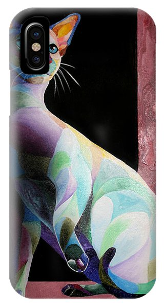 Siamese Shadow Cat 1 IPhone Case
