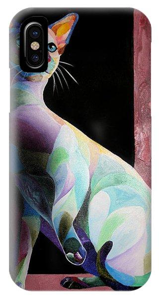 Siamese Shadow Cat 1 IPhone Case