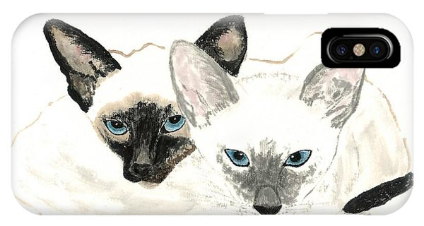 Siamese Sisters IPhone Case