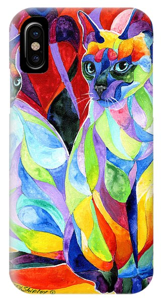 Siamese Sweethearts IPhone Case