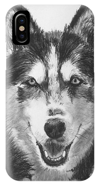 Siberian Husky Drawing IPhone Case