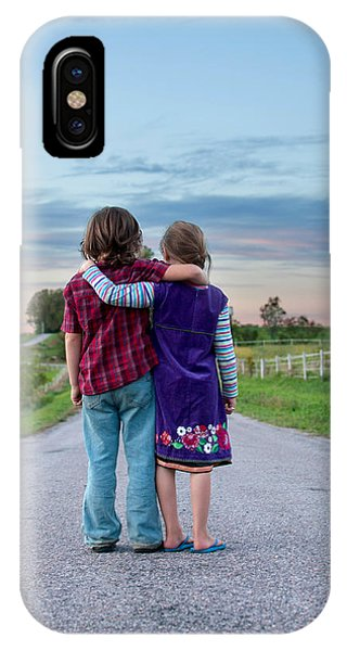 Child iPhone Case - Siblings by Elizabeth Gray