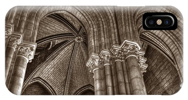 IPhone Case featuring the photograph Side Vault In Notre Dame by Michael Kirk