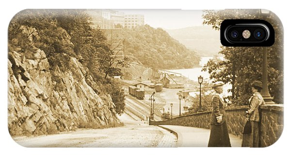 Sidewalk Conversation West Point New York 1914 IPhone Case
