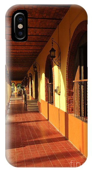 Window Shopping iPhone Case - Sidewalk In Tlaquepaque District Of Guadalajara by Elena Elisseeva