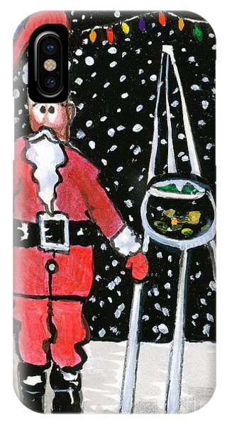 Sidewalk Santa IPhone Case
