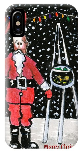 Sidewalk Santa.card IPhone Case
