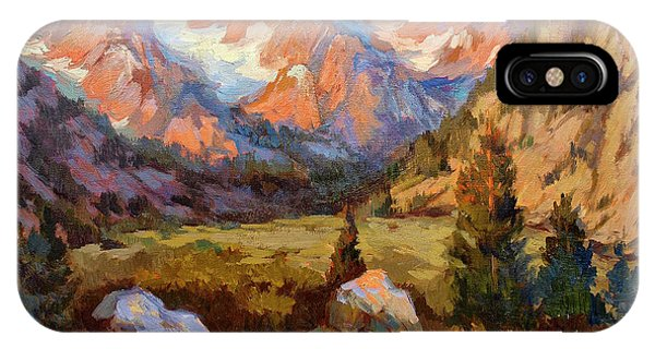 Rocky Mountain iPhone Case - Sierra Nevada Mountains by Diane McClary
