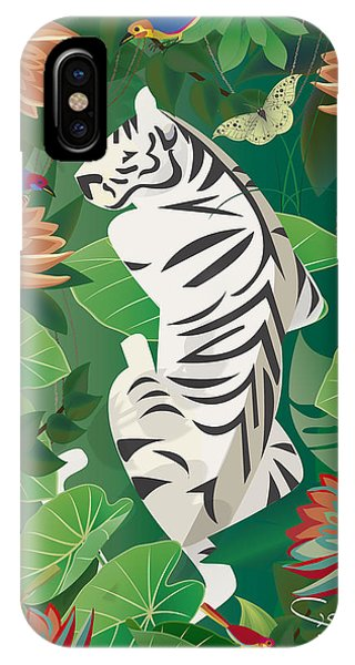 Siesta Del Tigre - Limited Edition 2 Of 15 IPhone Case