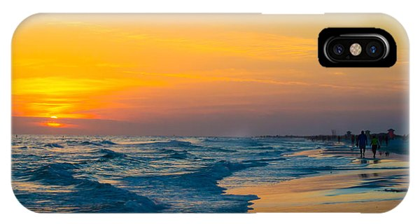 Siesta Key Sunset Walk IPhone Case