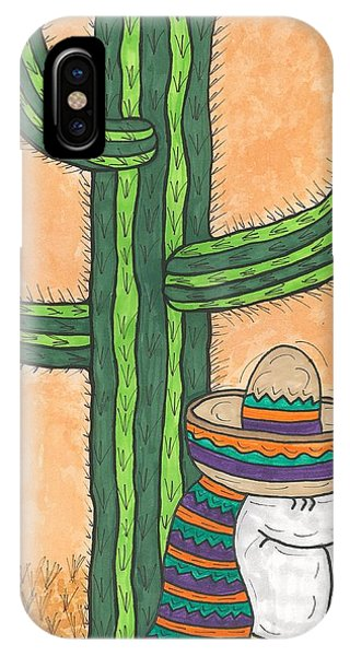 Siesta Saguaro Cactus Time IPhone Case