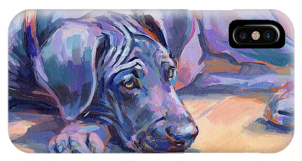 Pup iPhone Case - Sigh by Kimberly Santini