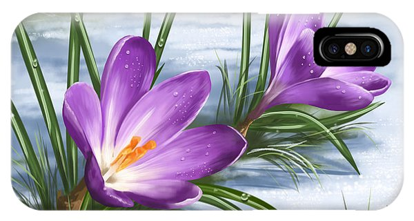Wild Violet iPhone Case - Sign Of Spring by Veronica Minozzi