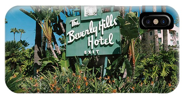 Beverly Hills iPhone Case - Signboard Of A Hotel, Beverly Hills by Panoramic Images