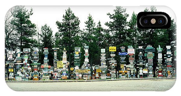 Signposts At The Roadside, Sign Post IPhone Case