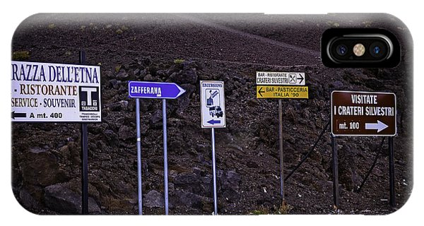 Mt Etna iPhone Case - Signs Of A Crater - Sicily by Madeline Ellis