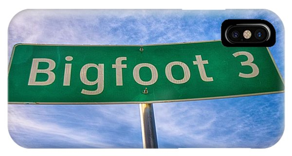 Signs Of Bigfoot IPhone Case