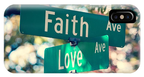 Love iPhone Case - Signs Of Faith And Love by Sonja Quintero