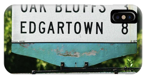 Street Sign iPhone Case - Signs Of Simpler Times Marthas Vineyard Massachusetts by Michelle Constantine
