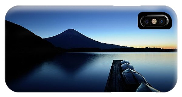 Docked Boats iPhone Case - Silence by Manabu Isei