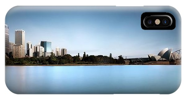 Panorama iPhone Case - Silence Of Ms. Macquarie's Skyline by Dr. Akira Takaue
