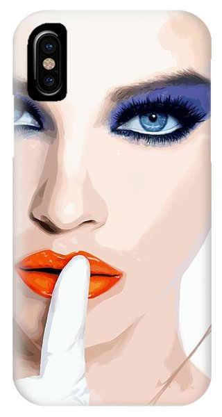 Silence - Pretty Faces Series IPhone Case