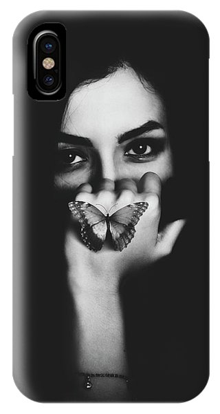 Hand iPhone Case - Silence by Saeed Razzaghi