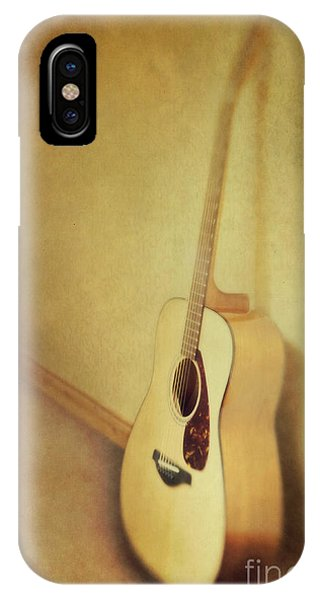 Guitar iPhone Case - Silent Guitar by Priska Wettstein