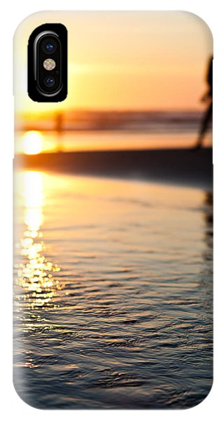 Silhouette At Sunset IPhone Case