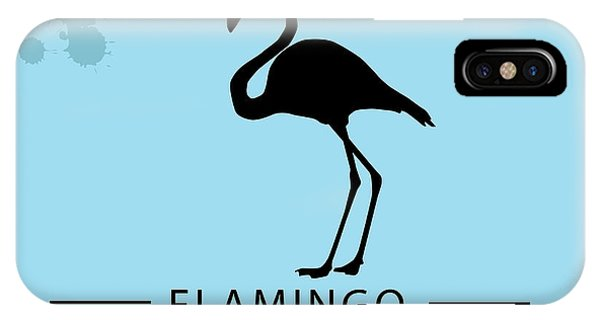 Silhouette Flamingo In The Retro Style Phone Case by Kurt Natalia