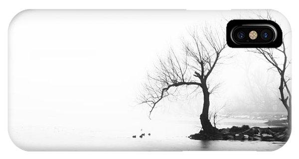 Silhouette In Fog IPhone Case