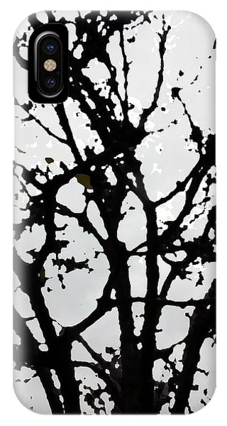 Silhouette Of Winter Tree IPhone Case