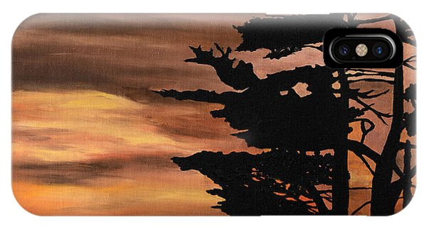 Silhouette Sunset IPhone Case